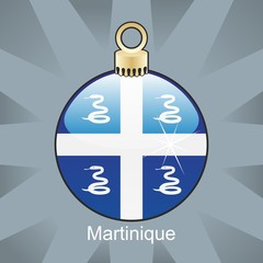 martinique flag in christmas bulb shape