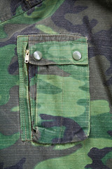 Camouflage of jacket with pocket