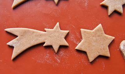 Uncooked gingerbread cookies