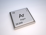 Argon chemical element of the periodic table with symbol Ar poster