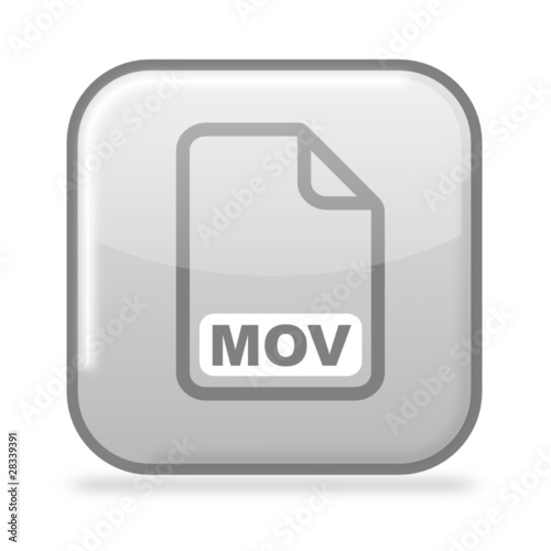Button MOV grau