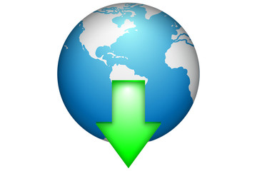 Earth Download Web button icon