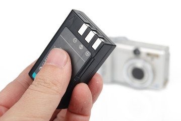 Camera and battery