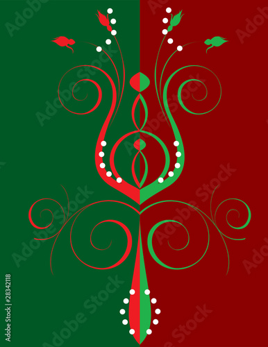 Christmas Abstract Flower