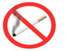 Animated No smoking sign with moving loopable smoke