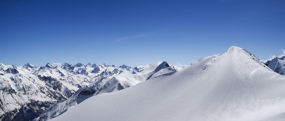 Mountain panorama. Caucasus, Dombay.