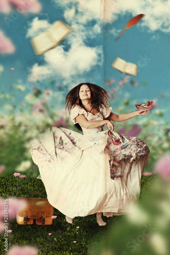 woman in the meadow - 28346396