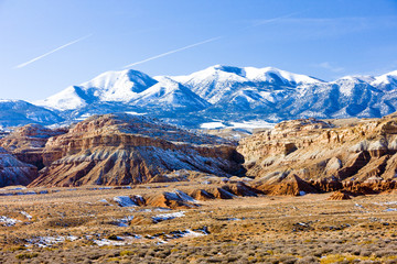 winter landscape of Utah near Lake Powell, USA