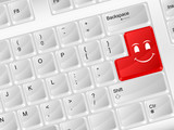 computer keyboard smile face symbol