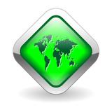 INTERNATIONAL Web Button (global world map business travel go) poster