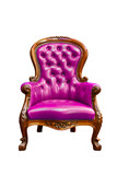 luxury violate leather armchair isolated poster