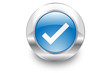 Metal Bubble button icon Tick