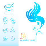 woman hair style beauty icon poster