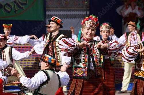 Leinwanddruck Bild The Ukrainian dance
