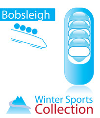 Bobsleigh from winter sports collection