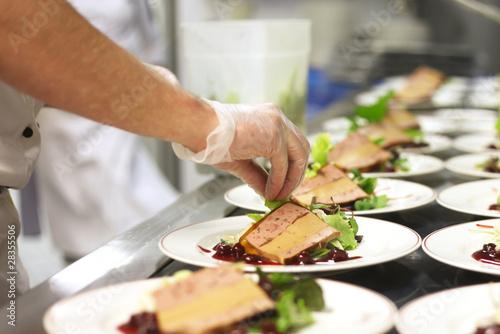Chef Preparing Appetizers