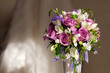 bouquet and wedding dress