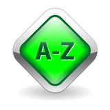 A-Z Web Button (dictionary search index directory icon find go) poster