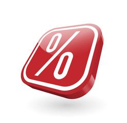 Prozent  Zeichen 3-d Schild