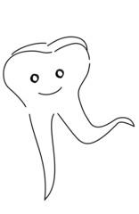 Glücklicher Zahn
