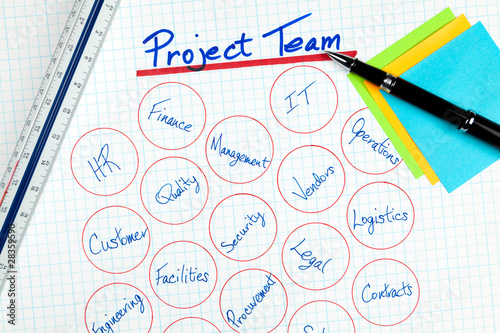 Business Project Team Diagram