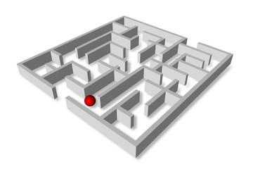 Labyrinth mit Kugel