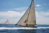 Classic Yacht under full sail poster