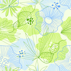 Whimsical floral background