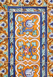 Artistic tiles background in Seville, Spain poster