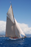 classic sailing yacht poster