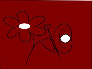 farfalla su foglia