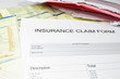 health insurance medical claim form, with medical bills