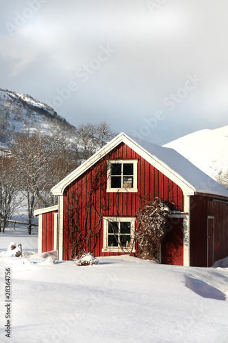 Foto op Plexiglas Antarctica 2 Red house of Gravdal