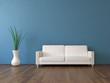 3d Sofa Rendering blau