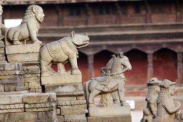 Hindu temple entrance,Bhaktapur, Nepal