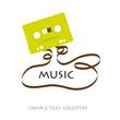 Logo  musicassette # vector