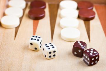 Nahafnahme von Backgammon