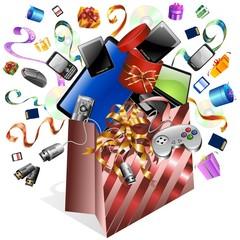 Sacchetto Carta Tecnologico-Technological Paper Bag-Vector