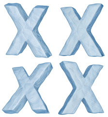 Icy letter X.