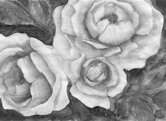 grisaille_painting_rose