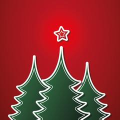 Christmas card template vector