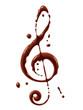 Vector chocolate clef symbol