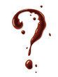 Chocolate question mark