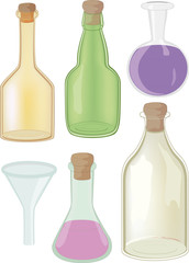 Bottles and chemical ware