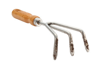 Garden Claw Cultivator with Dirt