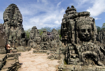Faces of Bayon, Angkor Wat, Cambodia.