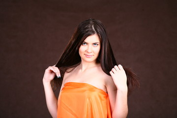 Brunette Woman With Healthy Hairs