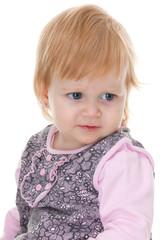 Indignant toddler in pnik