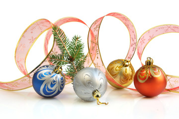 Ribbon and Christmas Balls