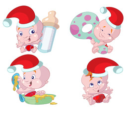 collection of christmas babys